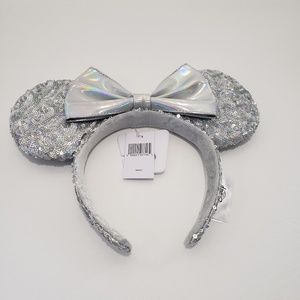 Magic Mirror Silver Sequin Disney Ears